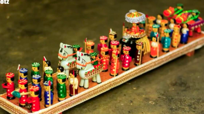 Wooden Dassara Procession