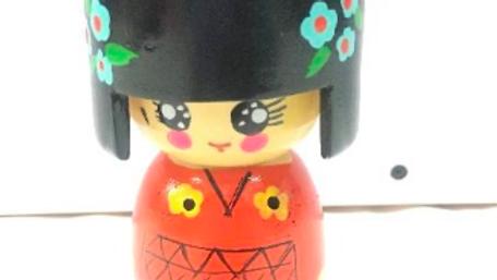 Wooden Japanese doll (Model 2)