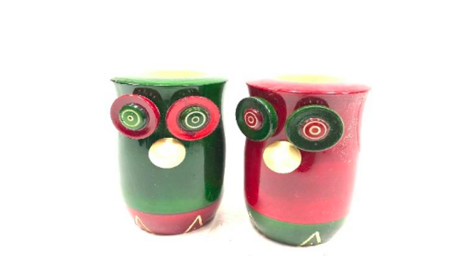 Owl Pen Stand (pair)