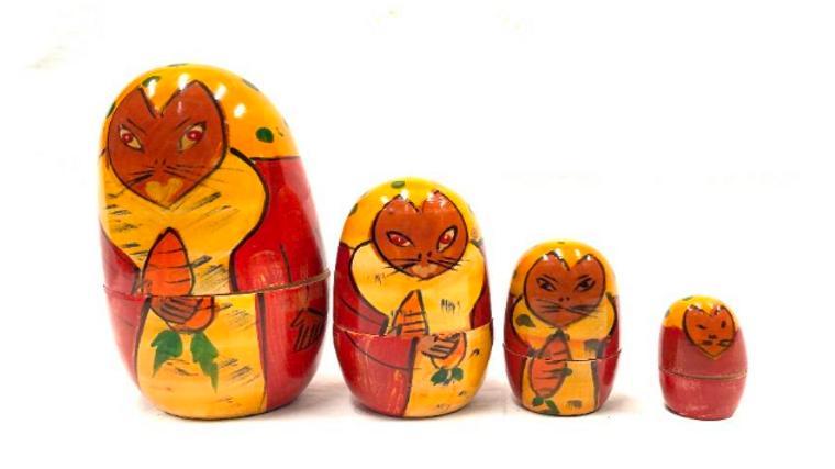 Wooden Rabbit Family set