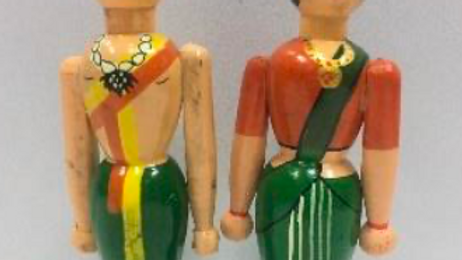 Wooden Village Couple (Model 2)