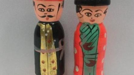 Wooden Raja Rani Couple (Model 3)