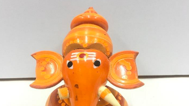 Wooden Table Ganesha