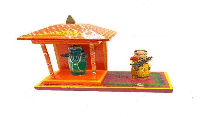 Wooden Krishna in a Temple