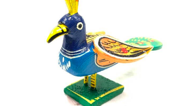 Wooden Peacock (Small)