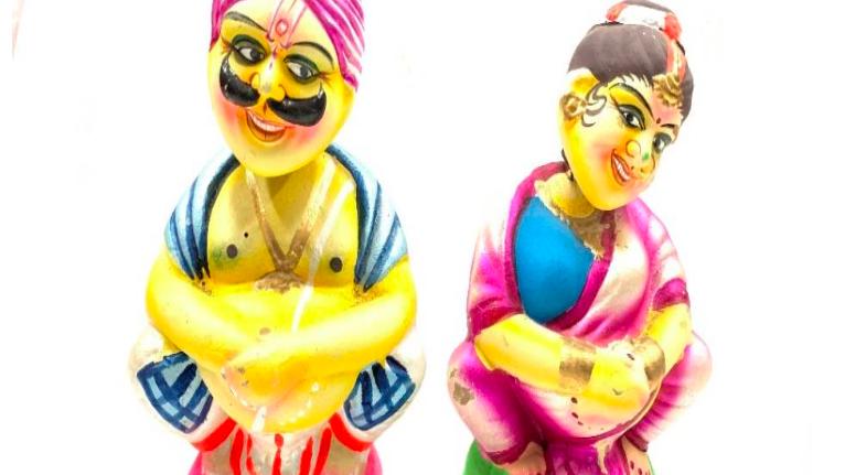 Wooden Marvadi couple
