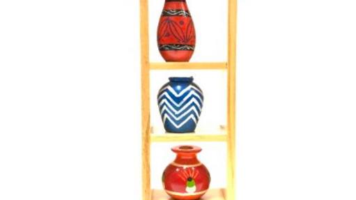 Wooden 4 pot set