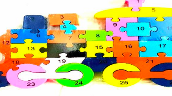 Alphabet and Number puzzle - Train