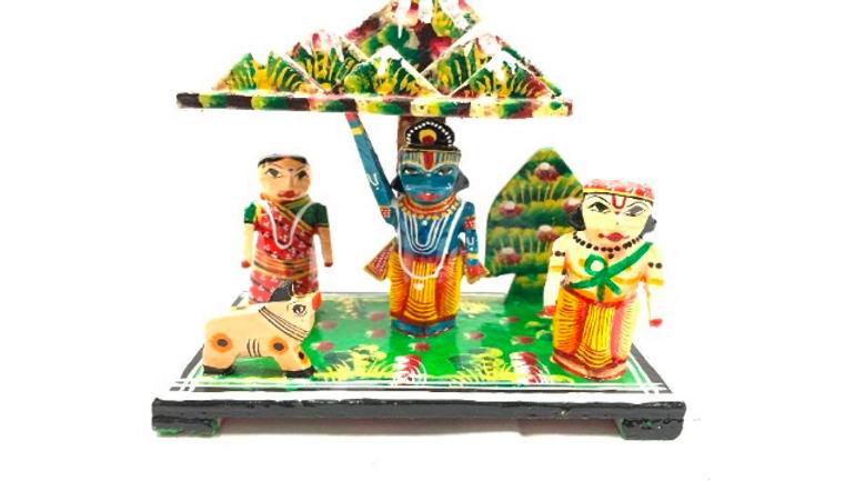 Wooden Krishna Vindhya Parvatha