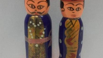 Wooden Raja Rani Couple (Model 2)