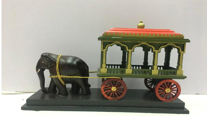 Wooden Elephant Chariot (Large)