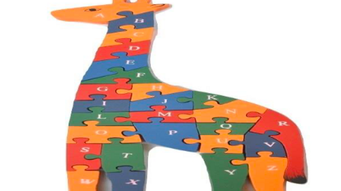 Alphabet and Number puzzle - Giraffe