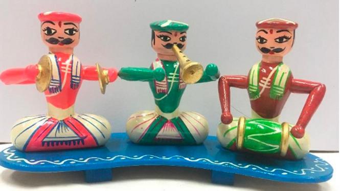 Wooden Karnatik Music Set with base (Medium size)