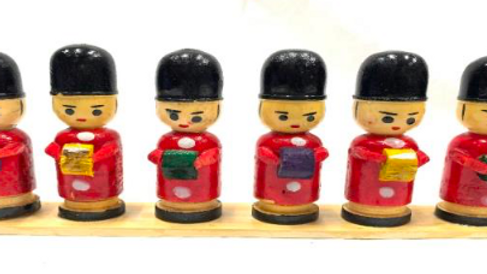 Wooden Police band set