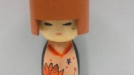 Wooden Japanese doll (Model 3)