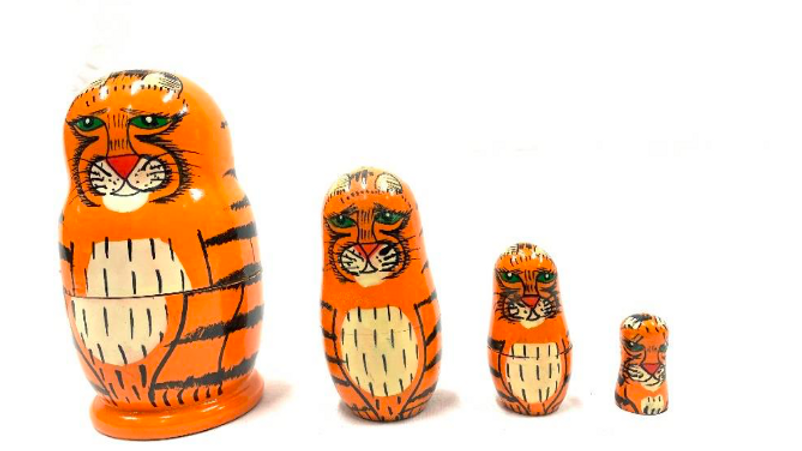 Wooden Tiger Family set