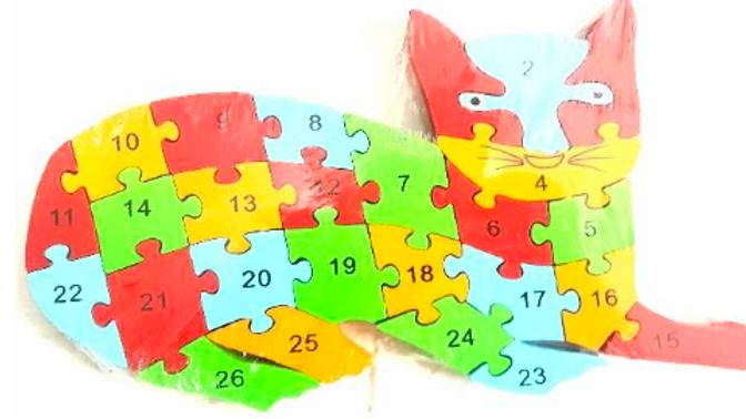 Alphabet and Number puzzle - Cat