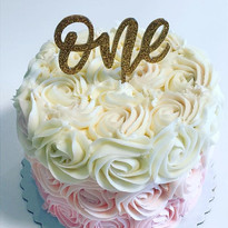 Pink ombré smash cake _sign from _foreve