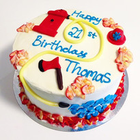 Fireman 🚒 inspired cake •_•_•_•_#firema
