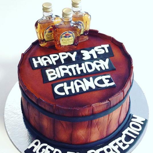 Whiskey barrel cake #crownroyal #cake #c
