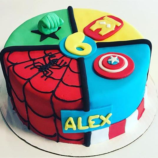 Comic book hero cake! •_•_#comicbookart