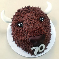 This Buffalo Head cake was for  someone