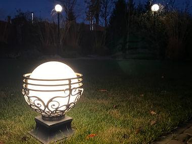 Фото уличных кованных светильноков для с