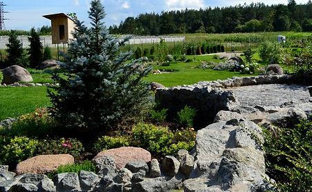 оформление сада камнями фото 4