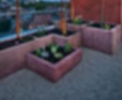 Фото озеленения террасы с использовавнием бетонных горшов, которые не сложно самостоятельно купить и установить на своем балконе
