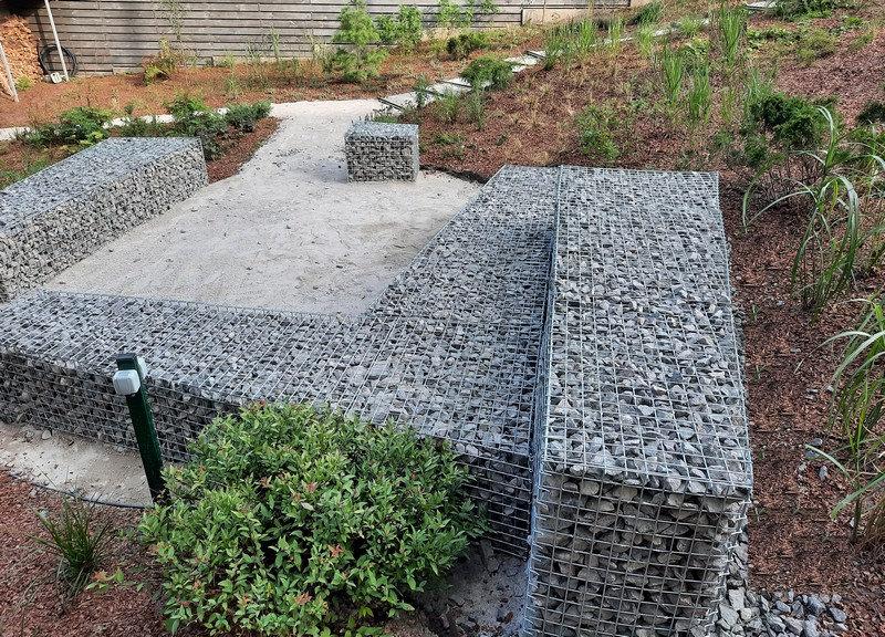 Пример использования декоративных объектов в дизайне сада