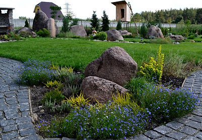 оформление сада камнями фото 3
