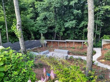 габионы в ландшафтном дизайне в саду на фото 16432
