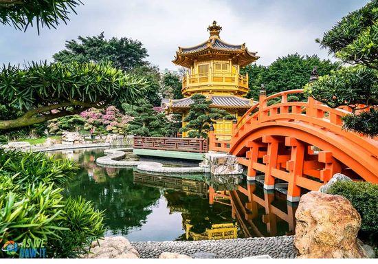 Фото прекрасного сада в Гонконге. Мы посетим этот сад во время нашего путешествия этой весной