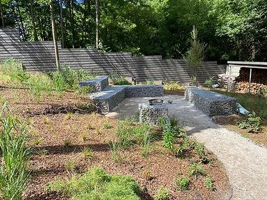 габионы в ландшафтном дизайне в саду на фото 18762