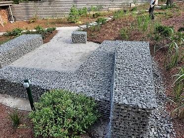 габионы в ландшафтном дизайне в саду на фото 16378