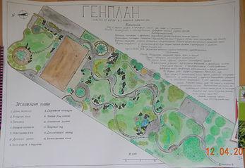 Пример генерального плана проекта ландшафтного дизайна