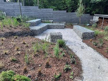 габионы в ландшафтном дизайне в саду на фото 1123