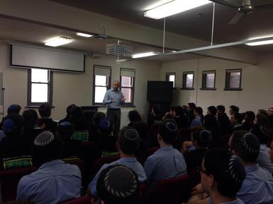 Lecture at Mount Scopus school in Melbourne, Australia