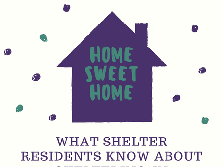 Covid-19 Thoughts Part I - What Shelter Residents Know about Sheltering In