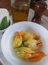 Courgettes flowers with feta
