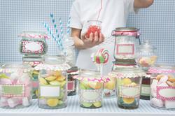 dulces en tarros