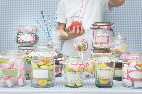 candy in jars