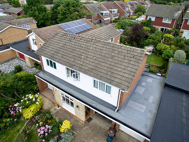Roof survey by drone