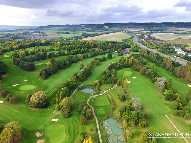 Golf courses by drone
