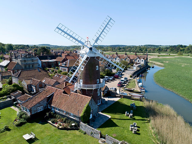 Windmill photograph by drone