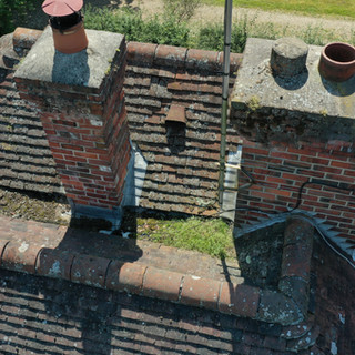 Poor access to roof is easy by drone