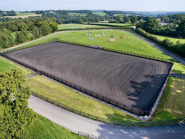 Equine training paddock