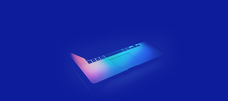 Laptop on Blue Background
