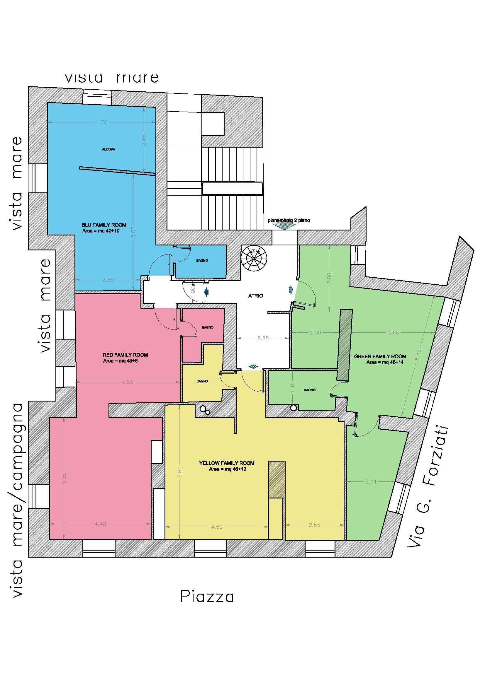 Planimetria delle Soffitte
