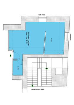 Planimetria Soffitta Blu
